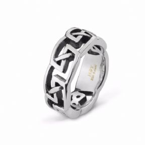 Celtic Knotwork Stainless Steel Ring 9364